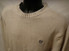 Mens Chaps Ralph Lauren Beige Crewneck Pullover Sweater Sz XL 100% Cotton