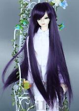 "6-7"" 1/6 BJD Wig Dal SD LUTS MSD DOD DD Dollfie Wig Purple Black Hair"