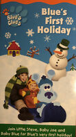 CHRISTMAS Nickelodeon Blues Clues Blues First Holiday(VHS 2003 RARE)Nick JR OOP