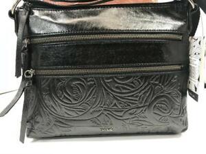 💯The Sak Pyrite Leaf Reseda Leather Handbag for Women Crossbody Black $149