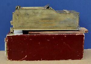 Vintage O Scale Adams Brass USRA 10 Ton Tender shell w Aluminum Frame Boxed