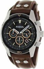 Fossil Men's Cocheiro CH2891 Couro Marrom Relógio De Quartzo Japonês Da Moda