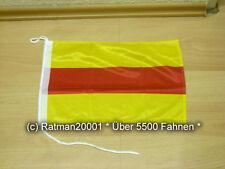 Fahnen Flagge Baden Bootsfahne Tischwimpel - 30 x 40 cm