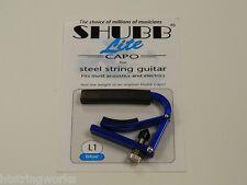 Shubb Lite  L1 Blue Guitar Capo Acoustic Electric  New  ~Free U.S. Shipping~