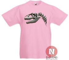 Dinosaurio T. REX Huesos de esqueleto infantil Camiseta 3-13 Años Diseño Impreso