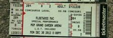 Fleetwood Mac Original Concert Used Ticket, Mgm Vegas Dec 30 2013 Private