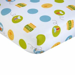 Winnie The Pooh: Play Day Fitted Crib Sheet by Disney Baby