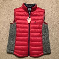 Nautica Men's Tempasphere Vest Red Grey Size Large