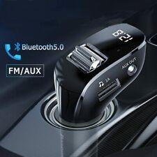 Baseus Bluetooth5.0 FM Transmitter Auto MP3 Player USB KFZ AUX Freisprechanlage