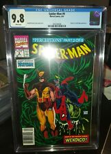 SPIDER-MAN #9 CGC 9.8 WP NEWSSTAND KEY * T MCFARLANE COVER  WOLVERINE APPEARANCE