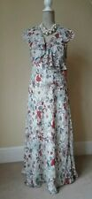 Per Una M & S Maxi Sheer Dress Floral Size 12 Lining Slip Holiday wedding