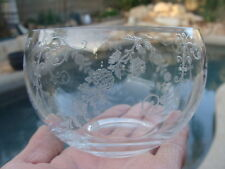 Cambridge Crystal Elaine Etched Pattern, Mayonnaise Bowl. Berry Candy Dish. 30's