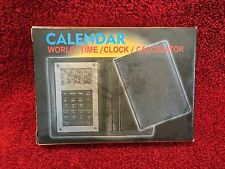 BIG VIEW TC-3019 CALENDAR AND ALARM CLOCK CALCULATOR WITH CARRYING CASE IN BOX