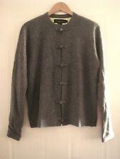 Gorgeous SHANGHAI TANG Cashmere Cardigan Jacket Light Green Silk Lining