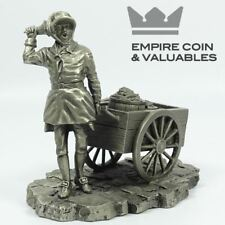 """1981 Franklin Mint """"Charcoal Peddler"""" by Ron Hinote, Pewter"""