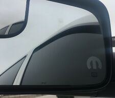 Mopar ' M ' Etched / Frosted Look Mirror Glass Decal Stickers Set Of 2