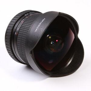 Super Fisheye lens 8mm f/3.5 for Canon EOS 5D 7D 6D 70D 60D 650D 700D T3 T5 DSLR