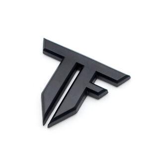 Car Body Matte Black Transformers Side Badge Rear Tailgate Trunk Logo Emblem