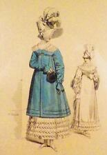 Antique Fashion Print Horace Vernet Dames de Paris Empire 1813 Horace Lauguet