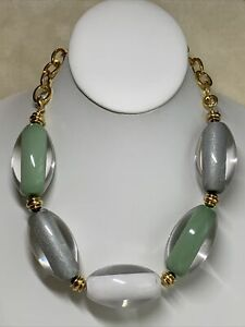 PONO Italy Joan Goodman Lucite Necklace # 7211