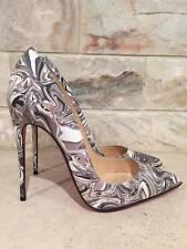 NIB Christian Louboutin So Kate 120 Black Marble Patent Apt Heels Pumps Shoes 42