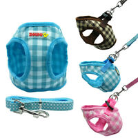 Soft Cotton Extra Small Dog Vest Harness and Lead for Pet Puppy Cat Chihuahua