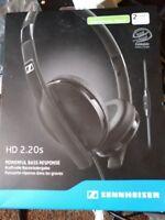 SENNHEISER HD 2.20S rrp £60 superb quality headphones