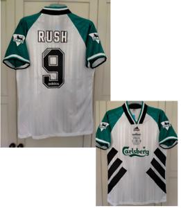 RUSH 9#  Liverpool shirt 1993 1994 1995 Away Football shirt white size LARGE