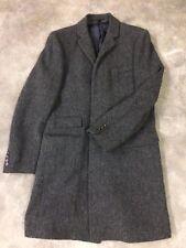 J.CREW Overcoat Blue Moon English Yorkshire Tweed Mayfair Topcoat Men's Size 38