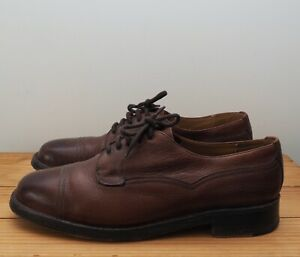 Cheaney shoes size 9.5 Cairngorm II brown leather burgundy grain capped Derby