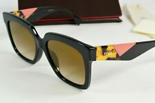NEW Fendi Black Square Pink Tortoise Sunglasses Womens FF0284/F/S 807