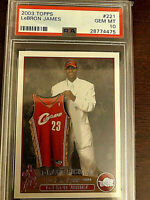 2003 Topps #221 LeBron James RC Rookie Lakers PSA 10 GEM MINT LOW POP