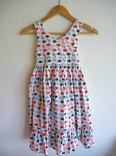 Gorgeous ESPRIT Girls Tropical Palm Tree Print SUMMER DRESS Size 8 Keyhole Back