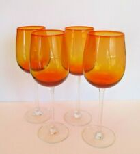 Orange 10 oz. Wine Stems