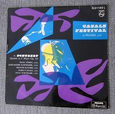 Casals Festival Prades 1952 Schubert Quintet Tortelier Philips Minigroove LP ED1