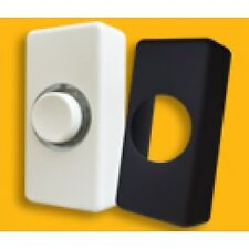 Illuminated Door Bell Push Interchangeable Black or White Cover