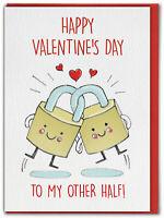 Cute Valentines Day Card Funny Lockdown Comedy Boyfriend Girlfriend Husband Wife