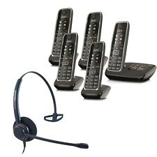 Cordless Phone Gigaset C530A 5 Handsets w Answer Machine and Corded Headset