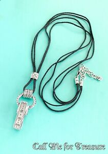 Brighton silver tone Clip long necklace