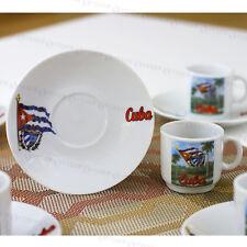 2.5 Oz Espresso coffee cups set Cuban pic café cubano 6 cups and saucers tazas