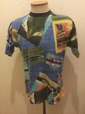 90S VTG TOMMY HILFIGER Ships, French Cities Hotels Harbors Graphics  T SHIRT M