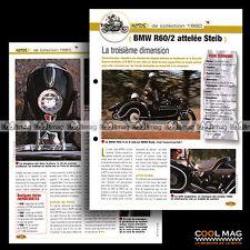 #jbt42.007 ★ SIDE-CAR BMW R60/2 + STEIB Modèle 1960 ★ Fiche Moto Motorcycle Card