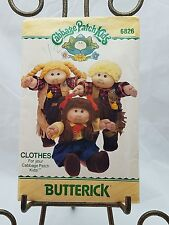 Vintage Butterick #6826 Cabbage Patch Kids Clothes Western Wear