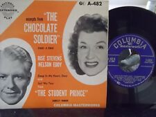 45O*PIC SLEEVE*CHOCOLATE SOLDIER 2 RECORDS STUDENT PRINCE COLUMBIA RECORDS