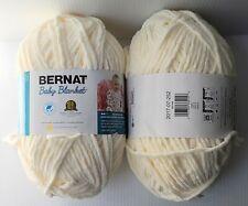 New listing Bernat Baby Blanket Yarn: 2 Balls, Super Bulky, Vanilla