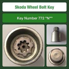 """Genuine Skoda Locking Wheel Bolt / Nut Key 772 """"N"""""""