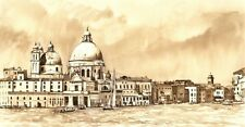 "NEW ELAINE MARSTON ORIGINAL ""Venice in Sepia"" Italy Veneto PAINTING"
