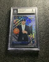 LUKA DONCIC 2018-19 PRIZM FAST BREAK LUCK OF THE LOTTERY PRIZM RC BGS 8 NM-MT