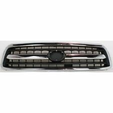 Grille For 2000-2002 Toyota Tundra Chrome Shell w/ Black Insert Plastic