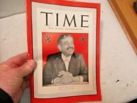 April 27, 1942 Time Magazine Fuhrer's Laval Cushion for Hitler's Backside Cover